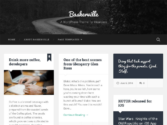Baskerville - 61+ Free Creating Responsive WordPress Themes [year]