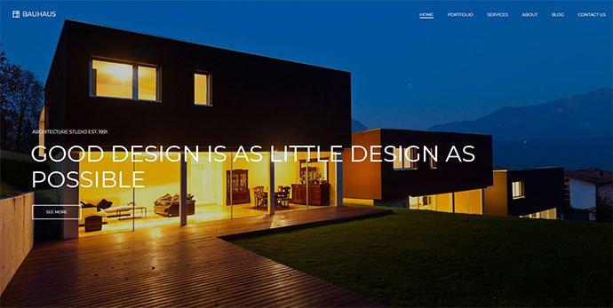 Bauhaus - 36+ Amazing WordPress Themes For Architect Portfolio [year]