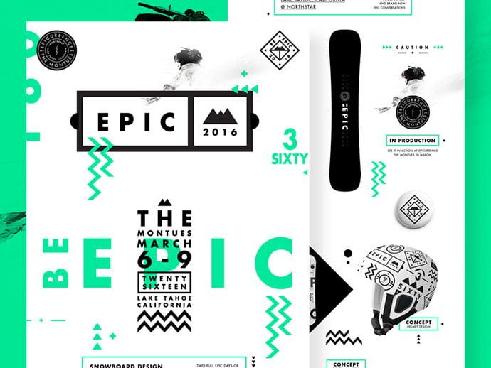 Be-Epic.-Presentation-Deck-by-Studio–JQ - 50+ Fantastic BEST FREE Typographic Logo Badge Designs