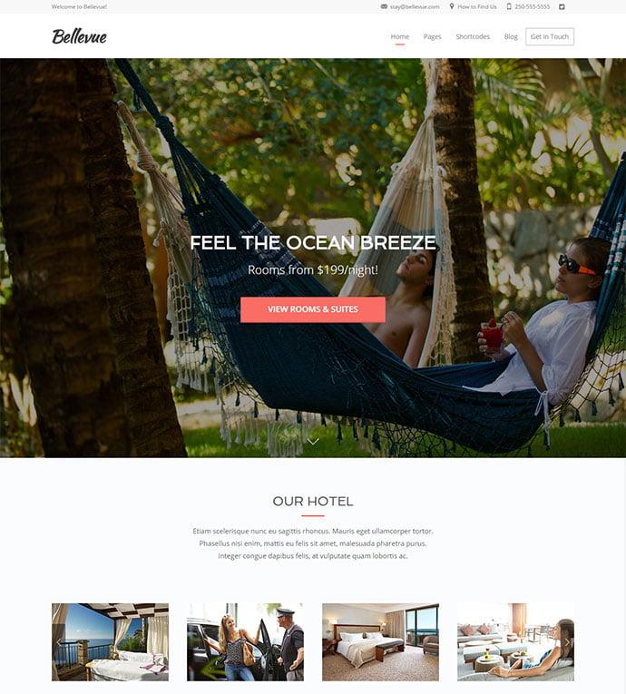 Bellevue - 30+ Amazing Resorts & Hotels WordPress Themes [year]
