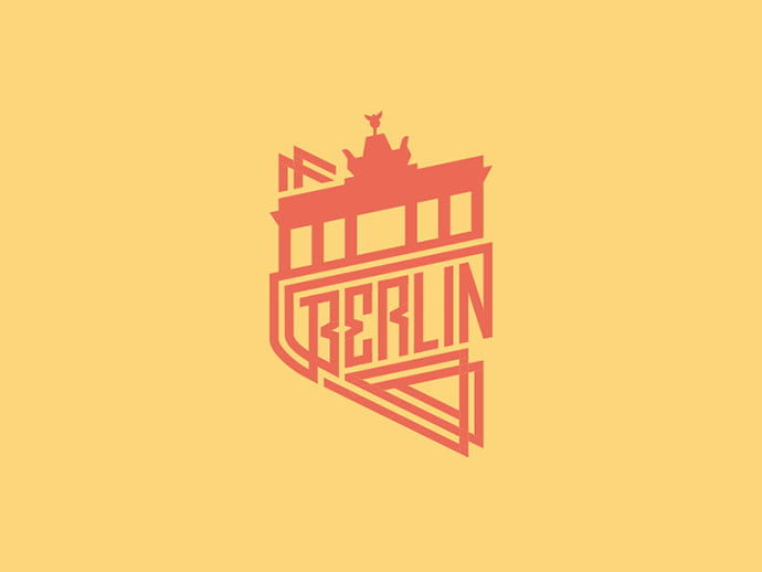 Berlin-Badge-by-Jonas - 50+ Fantastic BEST FREE Typographic Logo Badge Designs