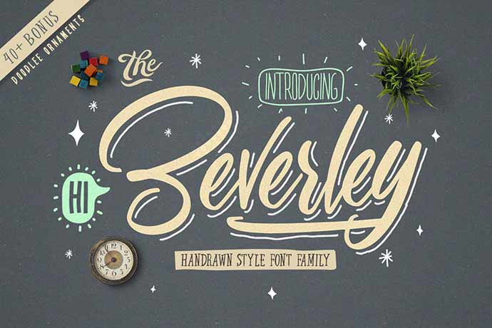 Beverley-Font-Family - 51+ Stunning Travel Theme Designs Fonts For Your Website [year]