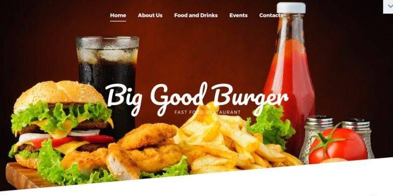 Big-Good-Burger - 41+ Stunning Restaurant Website HTML5 Templates [year]