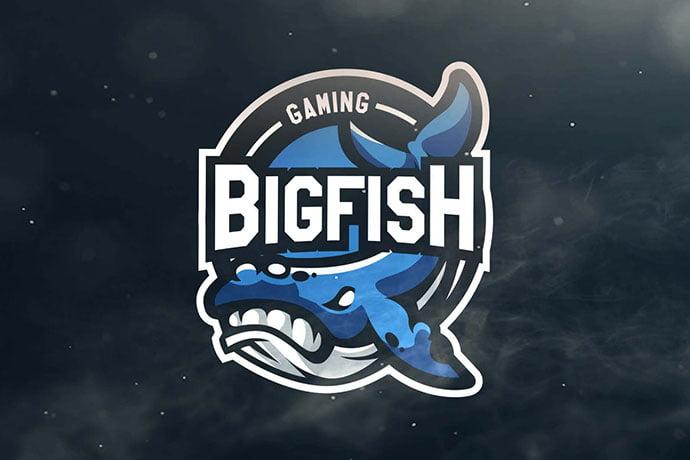 Bigfish-Gaming-Sport - 60+ Personal & Team Branding AI & EPS eSports Logo Templates [year]