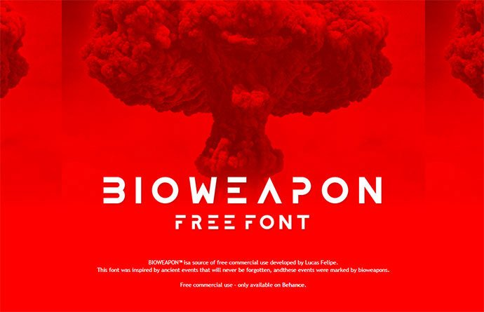 Bioweapon - 35+ Fantastic Science Fiction & Fantasy Fonts For You [year]