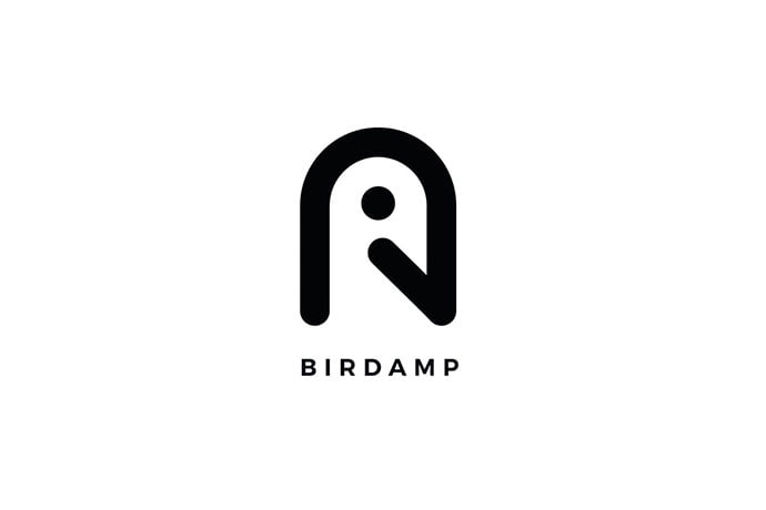 Birdamp-Logo-A-Letter-Template - 50+ BEST Single Letter Business Logo Template [year]