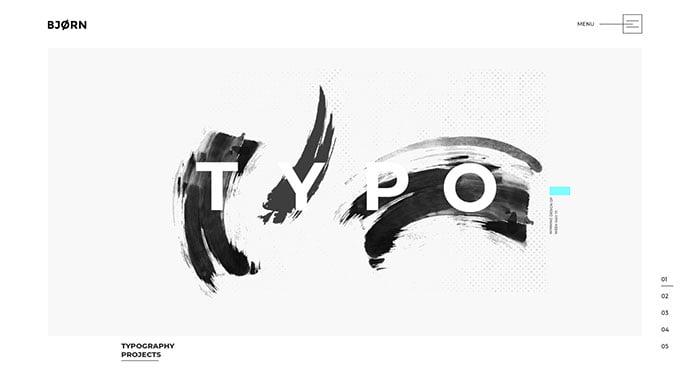 Bjorn-1 - 31+ Impressive Big Fonts & Bright Colors WordPress Themes [year]