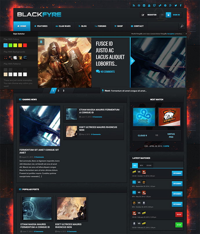 Blackfyre - 45+ Magazine & Blog WordPress Themes To Make Your Website [year]