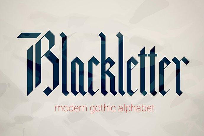 Blackletter-modern-gothic