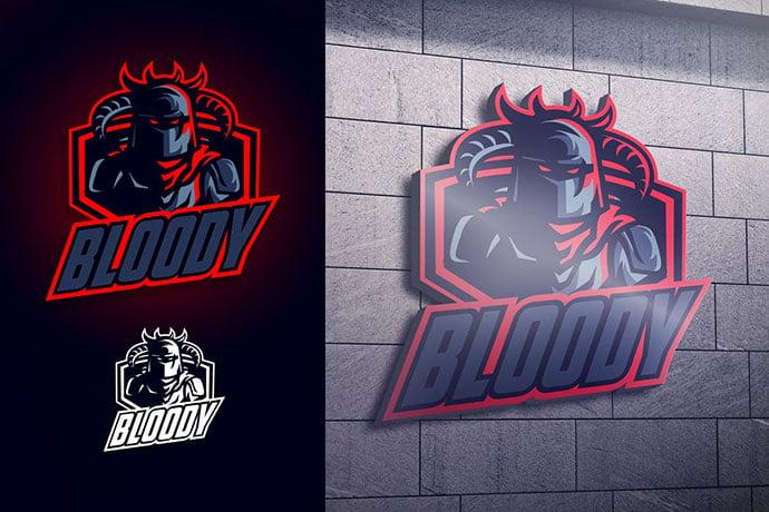 Blood-Knight-Mascot-Esports-Logo - 60+ Personal & Team Branding AI & EPS eSports Logo Templates [year]