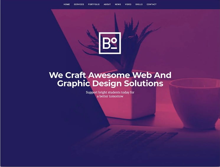 Boxus - 77+ Best Free HTML & CSS Clean Simple Website Templates [year]
