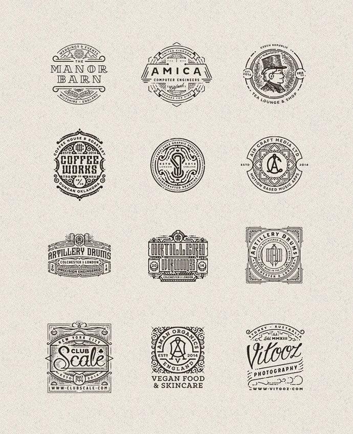 Branding-by-Joe-White - 50+ Fantastic BEST FREE Typographic Logo Badge Designs