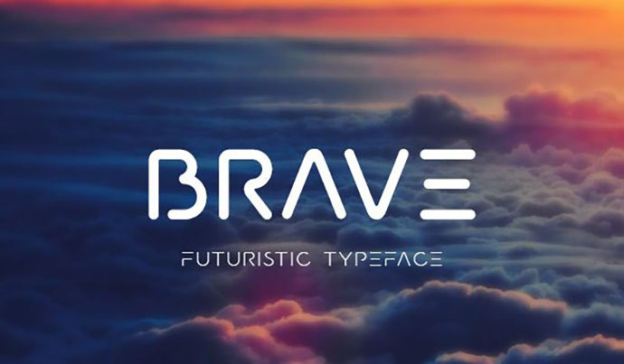 Brave - 35+ Fantastic Science Fiction & Fantasy Fonts For You [year]