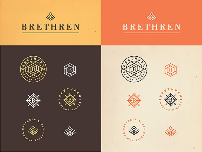 Brethren-Marks-by-Jonathan-Schubert - 50+ Fantastic BEST FREE Typographic Logo Badge Designs