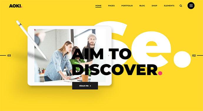 Bright-Colors-WordPress-Themes - 31+ Impressive Big Fonts & Bright Colors WordPress Themes [year]