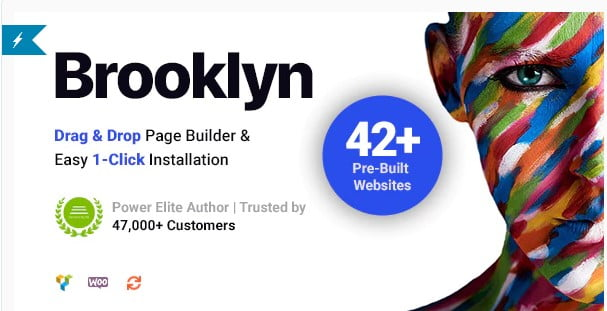 Brooklyn - 30+ Stunning Typography Portfolio WordPress Themes