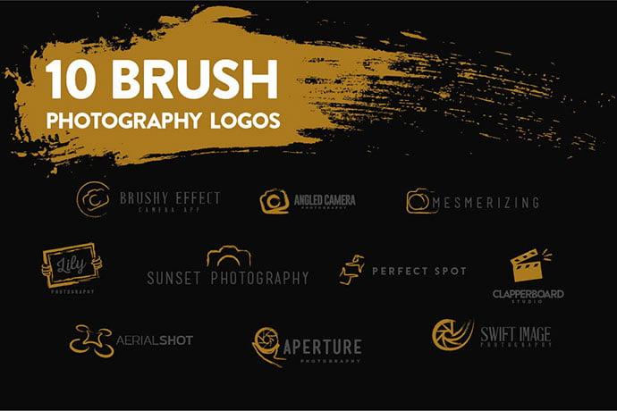 Brush - 31+ Awesome Watermark Photographer Logo Templates [year]