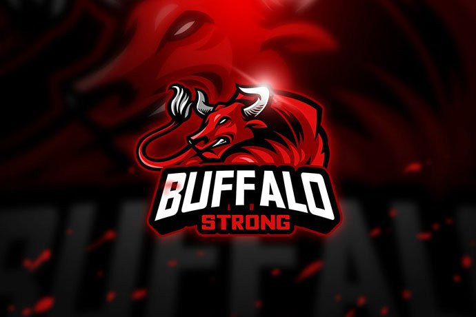 Buffalo - 60+ Personal & Team Branding AI & EPS eSports Logo Templates [year]