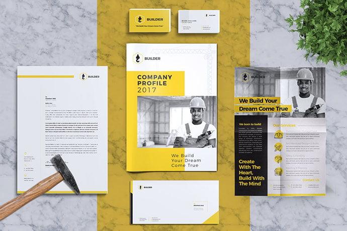 Builder - 35+ Remarkable Stationery Branding Design Templates [year]
