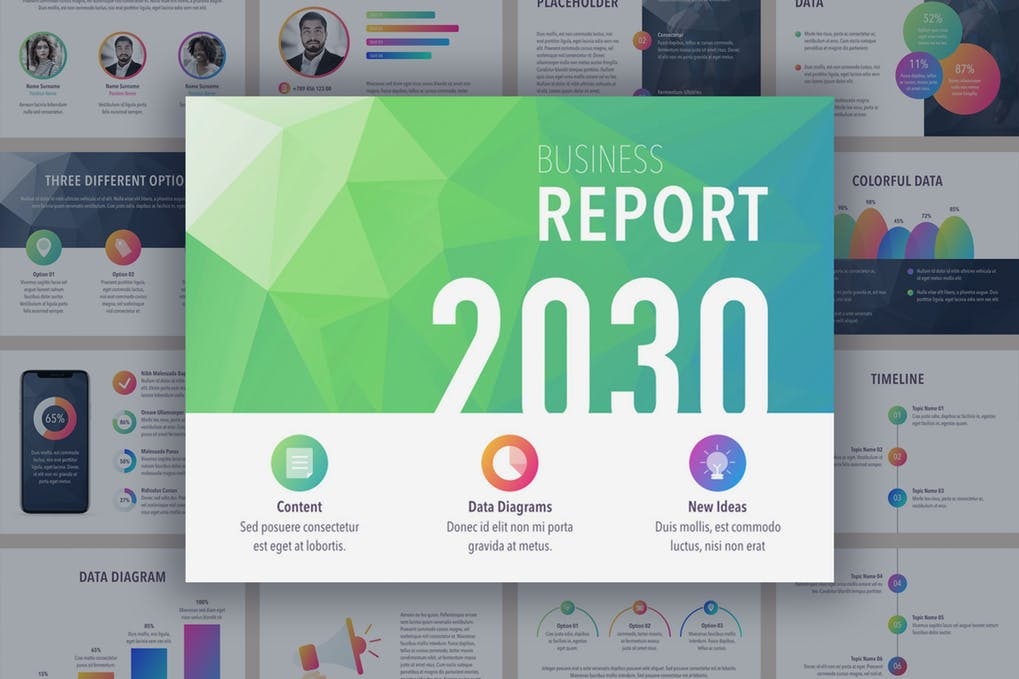 Business-Report - 35+ Attractive Annual Report Powerpoint Templates [year]