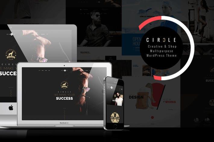 CIRCLE - 50+ Best Portfolio WordPress Theme Design [year]