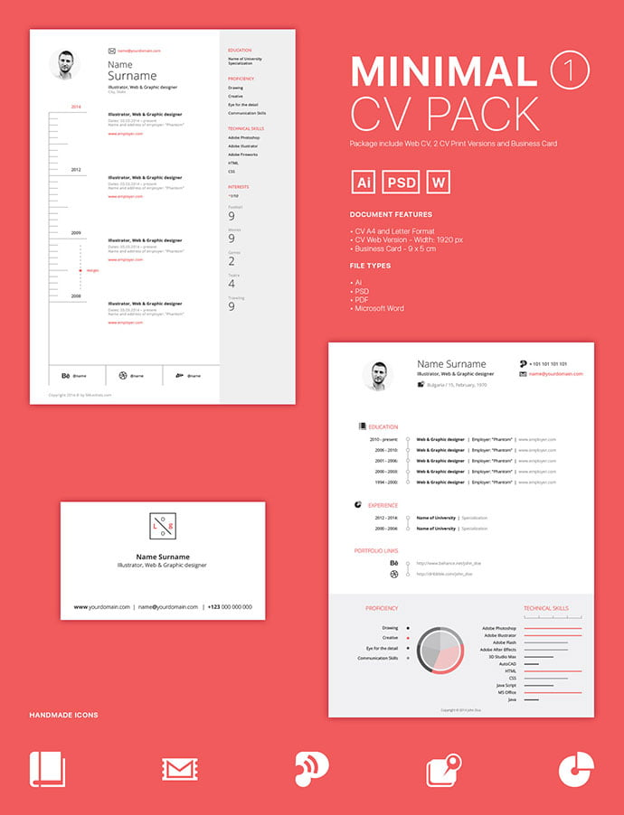 CV-Packs - 41+ Free HTML PSD & InDesign CV Resume Templates [year]