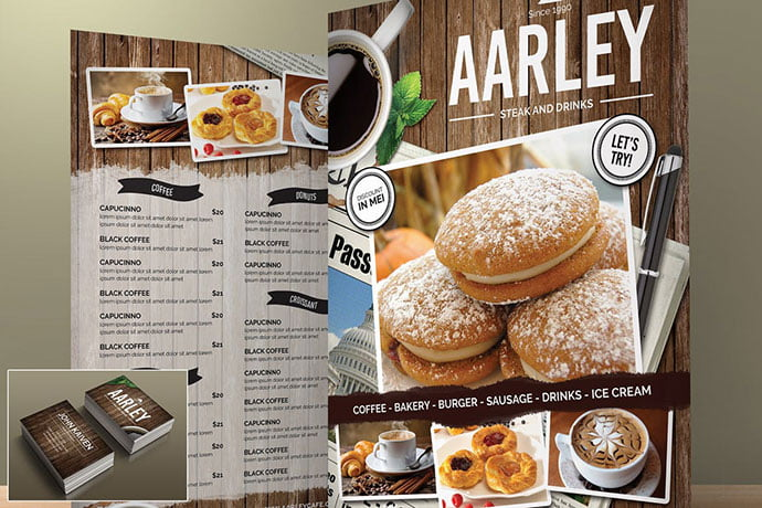 Cafe-Menu - 35+ NICE Cake and Bakery Menu Design [year]
