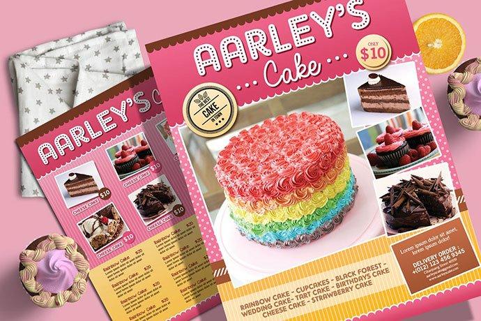 Cake-Menu-Flyer-Business-Card - 35+ NICE Cake and Bakery Menu Design [year]