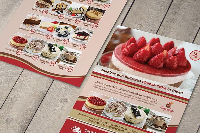 Cake-Menu-Flyer - 35+ NICE Cake and Bakery Menu Design [year]