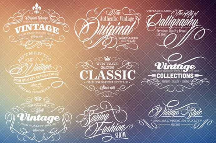 Calligraphy-Labels - 31+ Awesome Watermark Photographer Logo Templates [year]