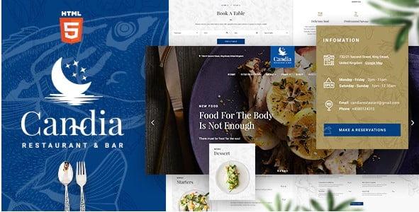 Candia - 41+ Stunning Restaurant Website HTML5 Templates [year]