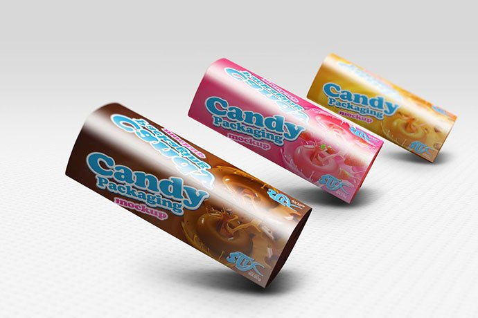 Candy - 60+ Delicious Food Packaging PSD Mockup Design Templates [year]