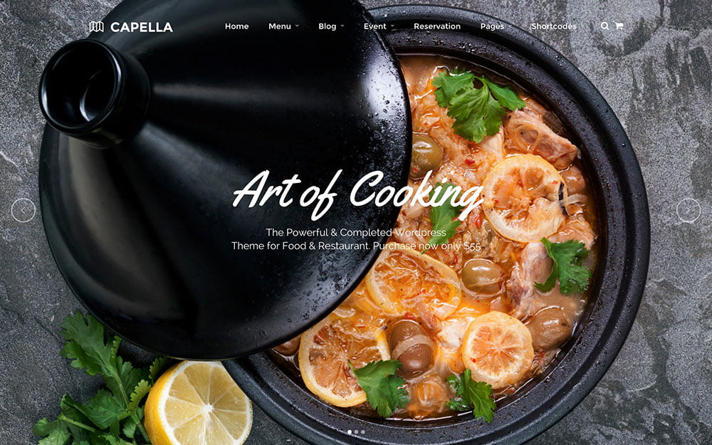 Capella - 51+ Best Restaurant WordPress Themes [year]