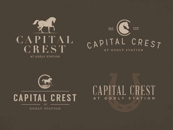 Capital-Crest - 50+ Fantastic BEST FREE Typographic Logo Badge Designs