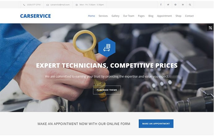 Car-Service - 36+ Top WordPress Vehicle & Transportation Themes [year]