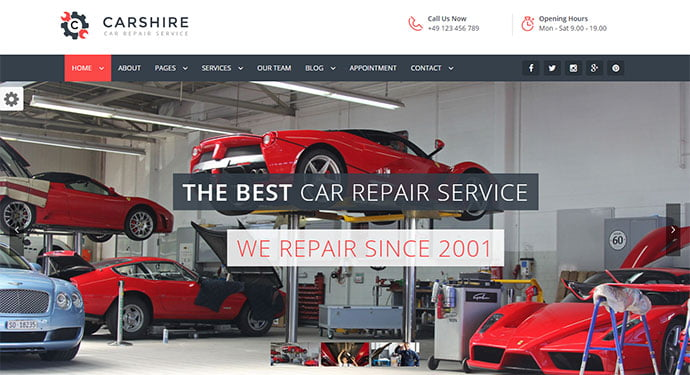 Car-Shire - 36+ Top WordPress Vehicle & Transportation Themes [year]
