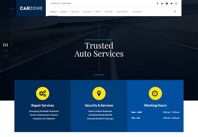 Car-Zone - 36+ Top WordPress Vehicle & Transportation Themes [year]