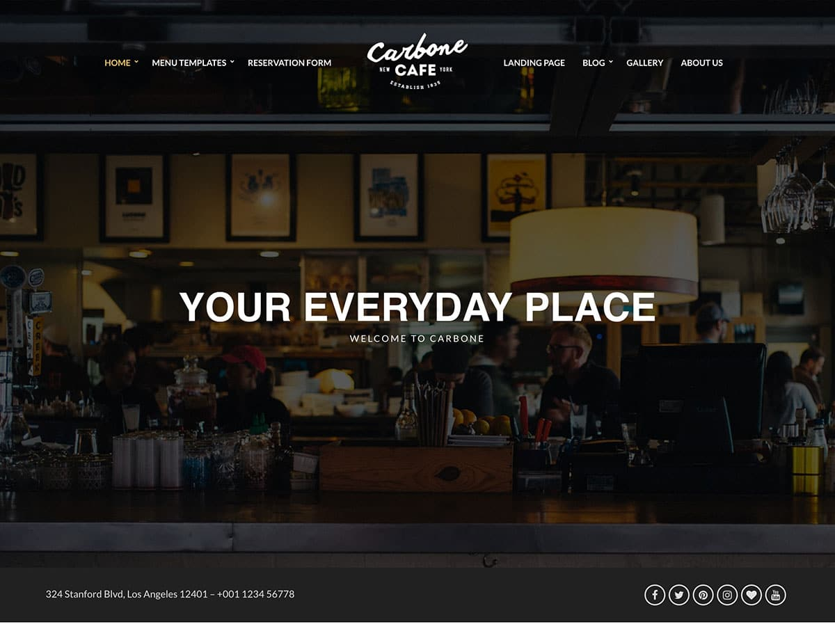 Carbone - 51+ Best Restaurant WordPress Themes [year]