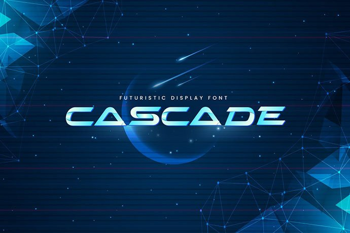 Cascade - 35+ Fantastic Science Fiction & Fantasy Fonts For You [year]