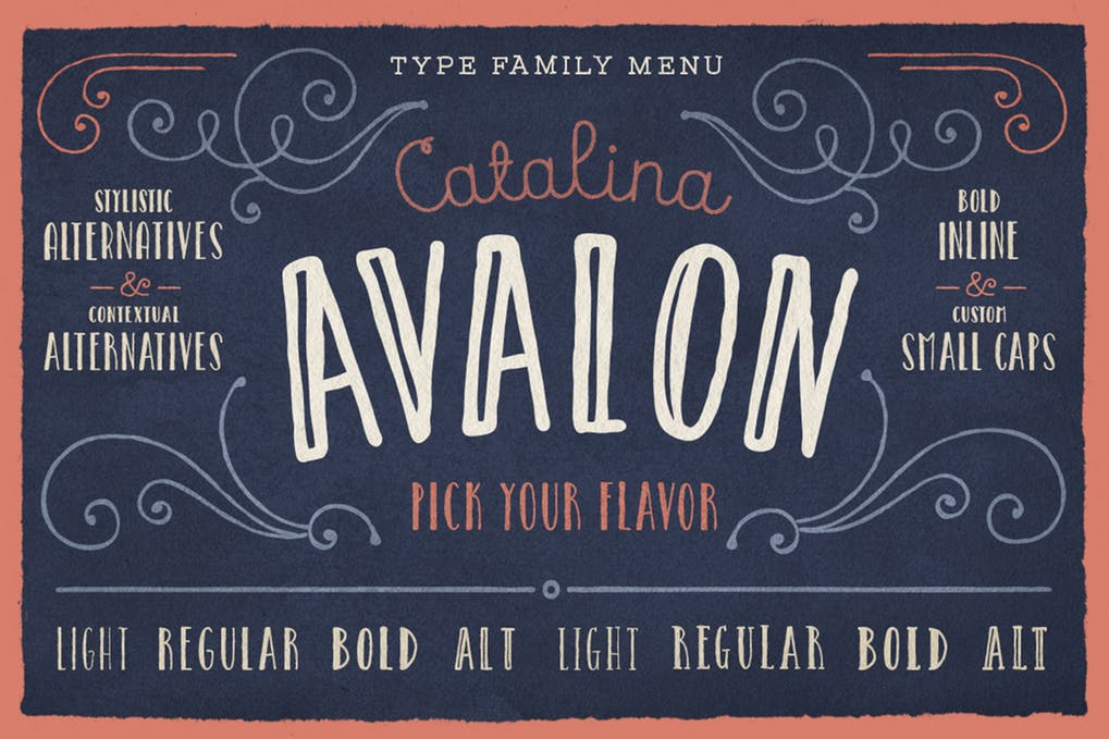 Catalina-Avalon - 51+ All Caps Fonts For Your Unique Personality Headline Website [year]