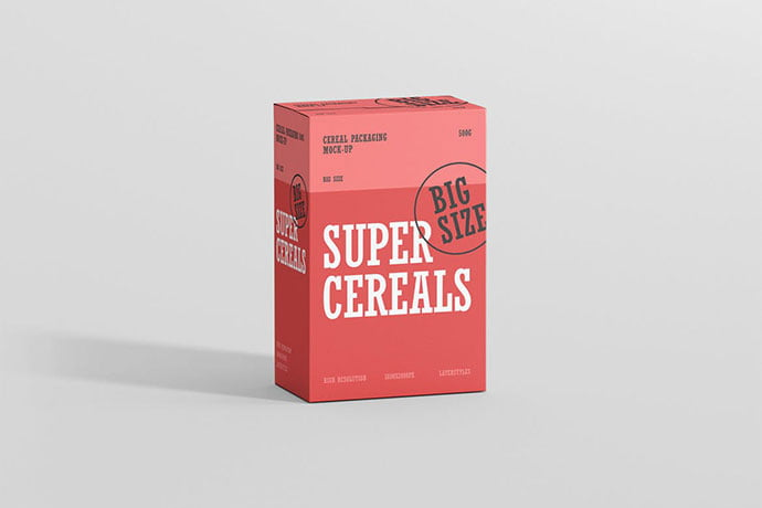 Cereals - 60+ Delicious Food Packaging PSD Mockup Design Templates [year]