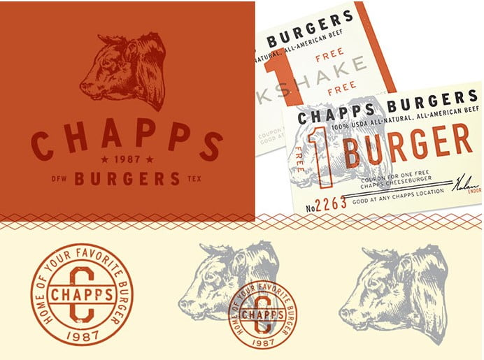 Chapps-by-Zack-Guerra - 50+ Fantastic BEST FREE Typographic Logo Badge Designs