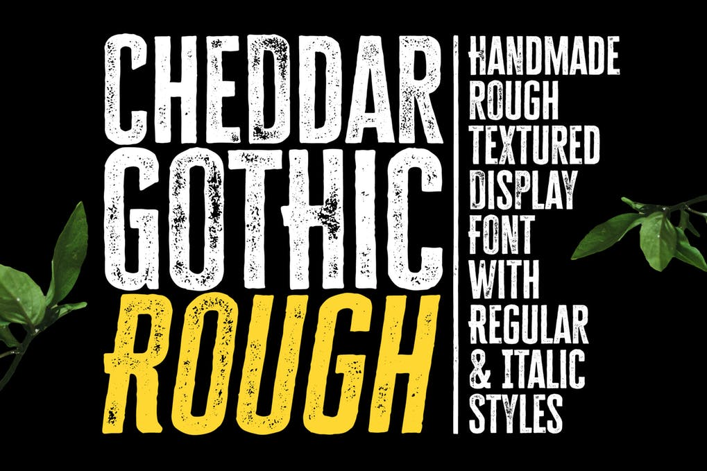 Cheddar-Gothic-Rough-Font - 51+ All Caps Fonts For Your Unique Personality Headline Website [year]