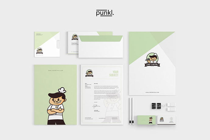 ChefBistro - 35+ Remarkable Stationery Branding Design Templates [year]