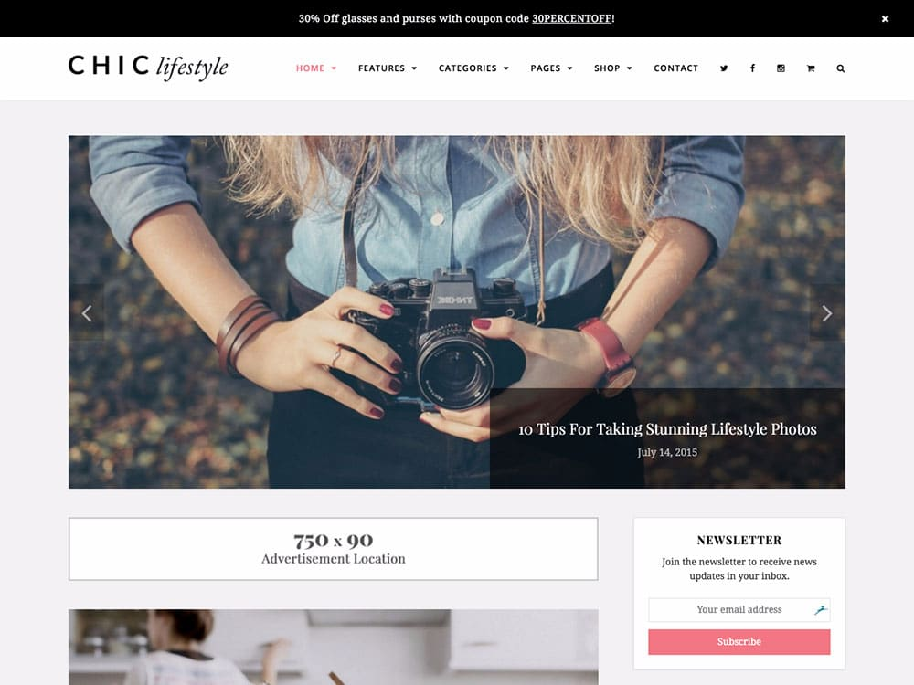 Chic - 25+ Awesome WordPress Themes For Feminine [year]