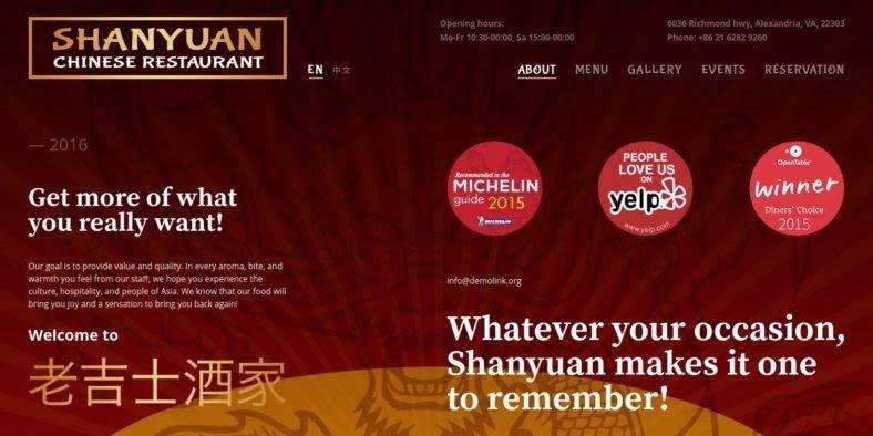 Chinese-Restaurant - 41+ Stunning Restaurant Website HTML5 Templates [year]