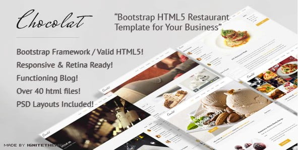 Chocolat - 41+ Stunning Restaurant Website HTML5 Templates [year]