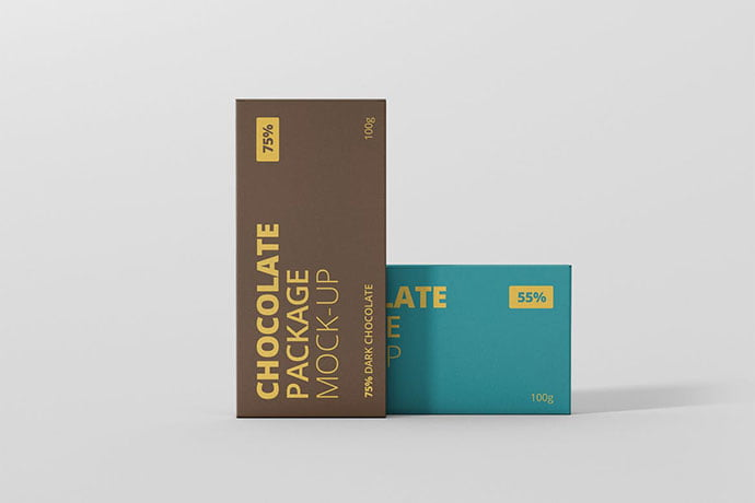 Chocolate - 60+ Delicious Food Packaging PSD Mockup Design Templates [year]