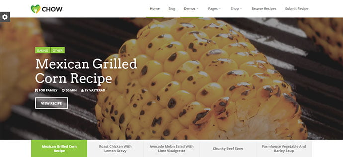 Chow-1 - 36+ Delicious Cooking Idea Share WordPress Themes [year]