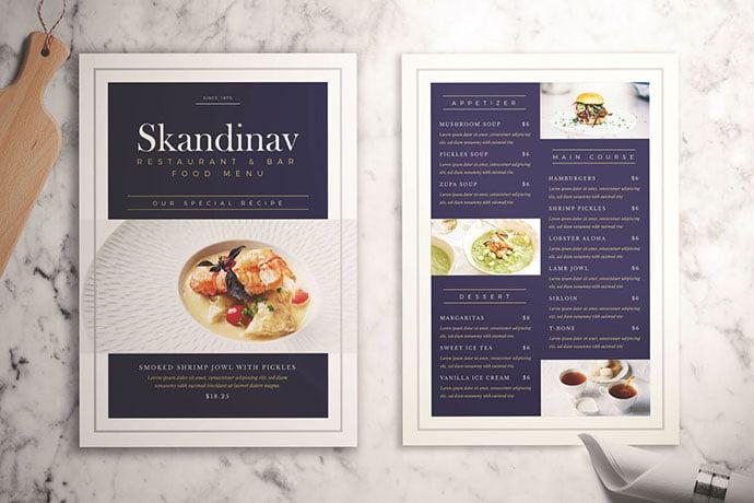 Classy-Food-Menu - 35+ NICE Cake and Bakery Menu Design [year]